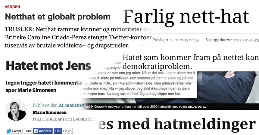 Medie har stadig netthat på dagsorden, men er det rett fokus, for mykje fokus og rett type kritikk?