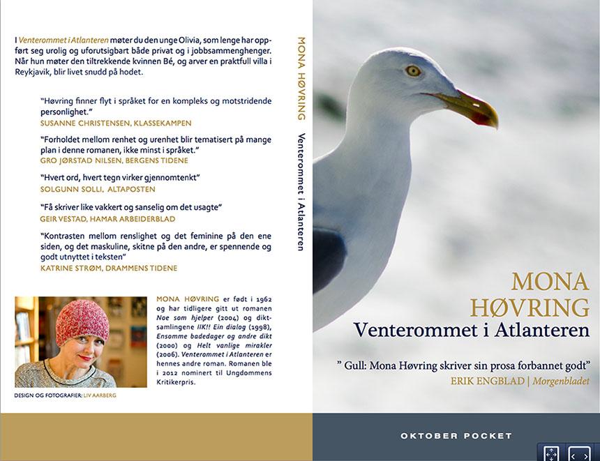 Liv Aarberg designa bokomslag som ein del av sitt særemne i norsk.