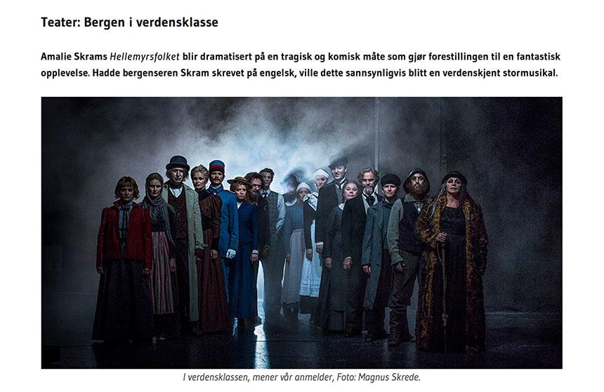 Elevane skreiv teaterkritikkar i tverrfagleg samarbeid mellom media og norsk