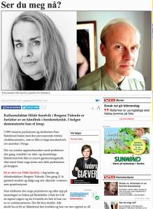 Har Giæver lese Sandvik sympatisk? Skjermdump frå VG si nettside
